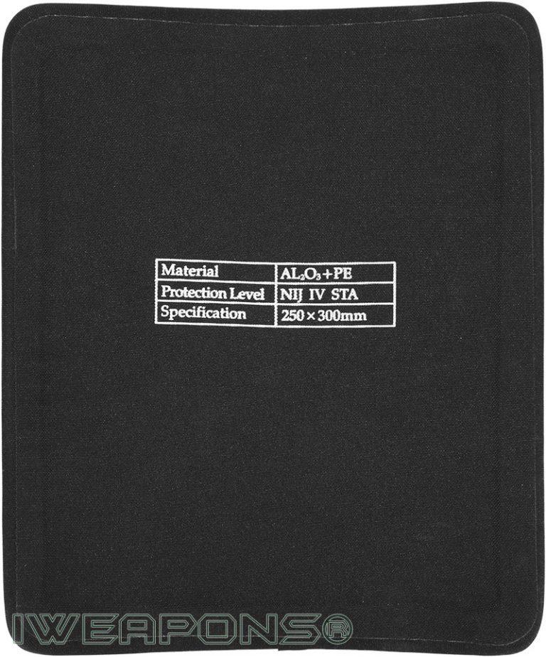 IWEAPONS® Alumina and PE Armor Plate IV / 4