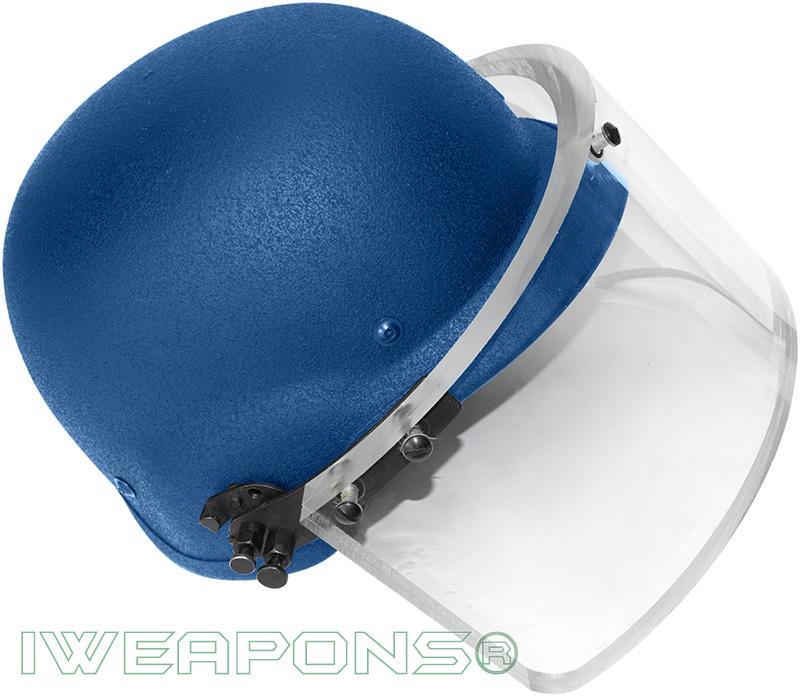 IWEAPONS® Ballistic Bulletproof Helmet with Visor IIIA - Blue