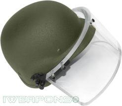 IWEAPONS® Ballistic Bulletproof Helmet with Visor IIIA - Green