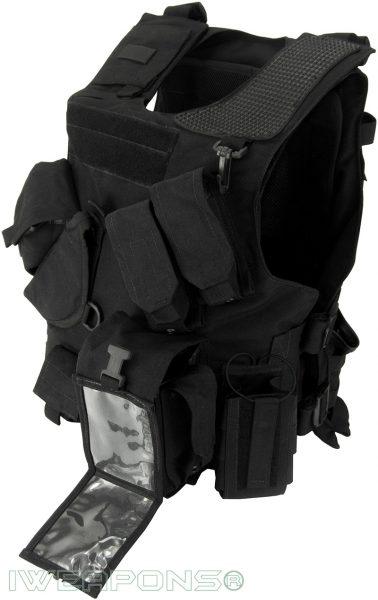 IWEAPONS® Combat Bulletproof Vest - Holster Model - Black - Left Hand