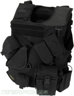 IWEAPONS® Combat Bulletproof Vest - Holster Model - Black - Left Hand