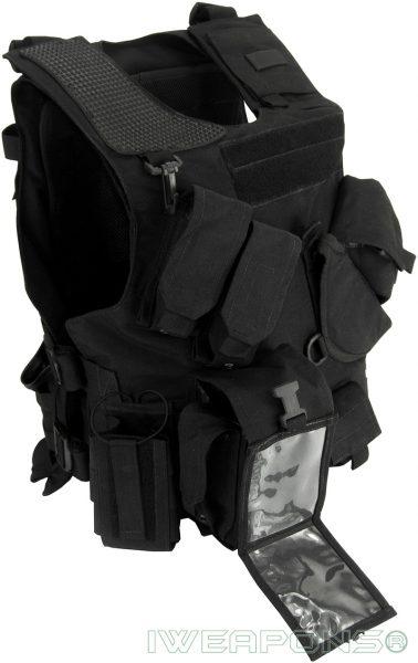 IWEAPONS® Combat Bulletproof Vest - Holster Model - Black - Right Hand