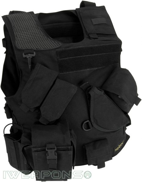 IWEAPONS® Combat Bulletproof Vest - Holster Model - Black - Right Hand