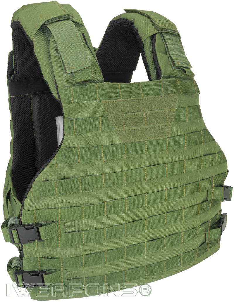 IWEAPONS® Commander MOLLE Bulletproof Vest Front View