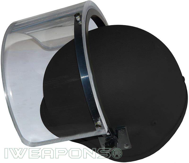 IWEAPONS® IDF Bulletproof Helmet with Ballistic Visor IIIA - Black