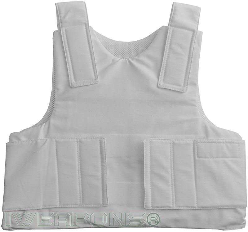 IWEAPONS® IDF Concealable Bulletproof Vest – White