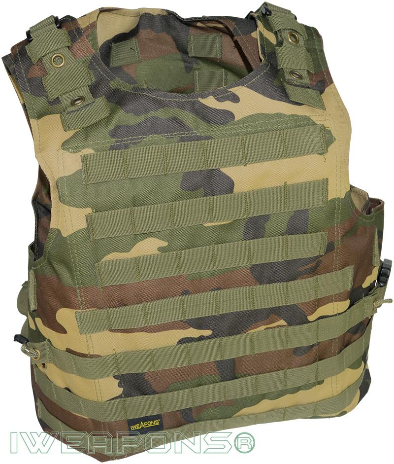 IWEAPONS® MOLLE Commando Camouflage Bulletproof Vest
