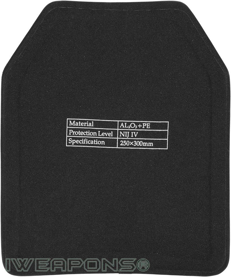 IWEAPONS® SAPI Alumina and PE Armor Plate IV / 4
