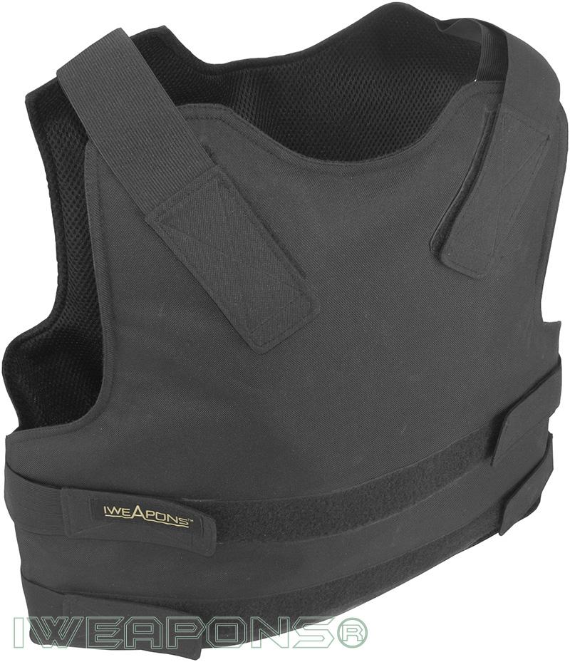 IWEAPONS® Security Concealable Bulletproof Vest - Black