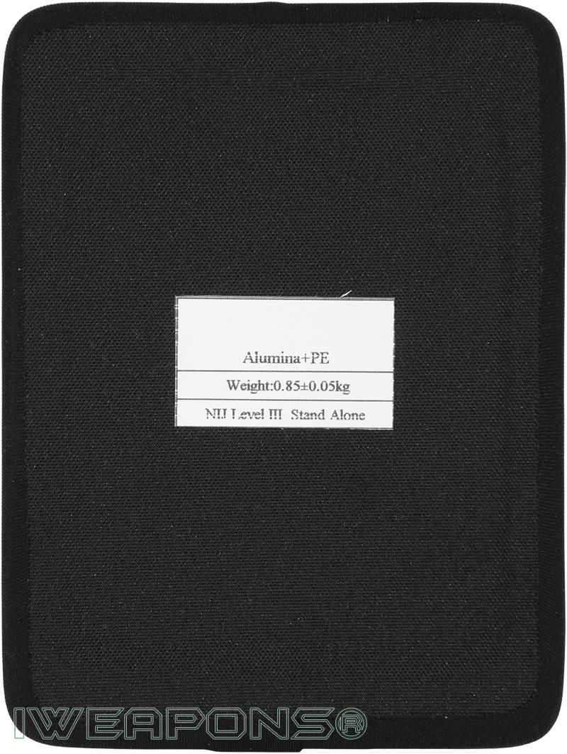 IWEAPONS® Stand-Alone Alumina and PE 6x8 Side Armor Plate III / 3