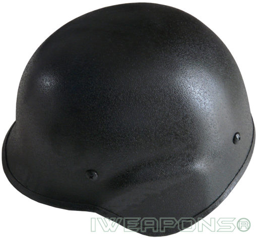 IWEAPONS® Steel Bulletproof Helmet - Black