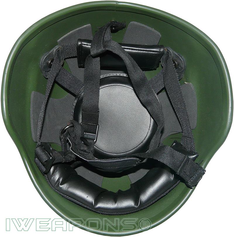 IWEAPONS® Steel Defense Bulletproof Helmet - Green