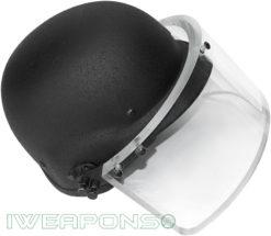 IWEAPONS® Ballistic Bulletproof Helmet with Visor IIIA - Black