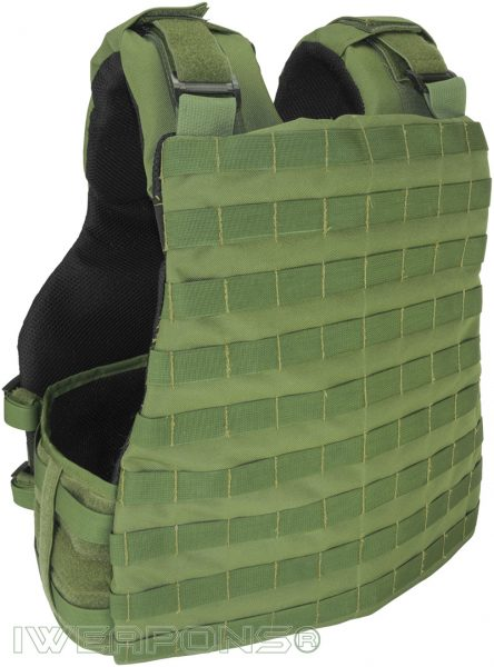 IWEAPONS® Commander MOLLE Bulletproof Vest Back View