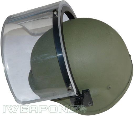 IWEAPONS® IDF Bulletproof Helmet with Ballistic Visor IIIA - Green