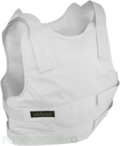 IWEAPONS® Security Concealable Bulletproof Vest – White
