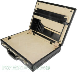 IWEAPONS® Leather Bulletproof Briefcase III