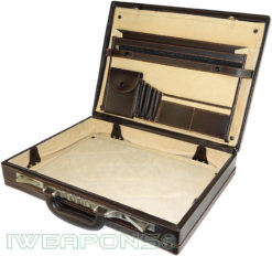 IWEAPONS® Leather Bulletproof Briefcase IIIA