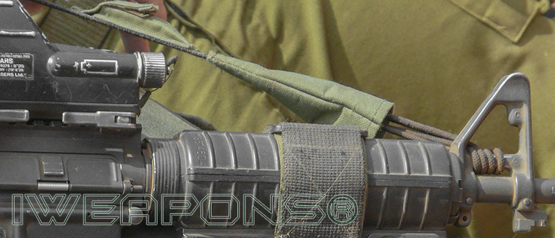 IWEAPONS® IDF 2 Point Rifle Sling Attached to Front Iron Sight