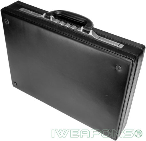 IWEAPONS® Leather Bulletproof Briefcase III