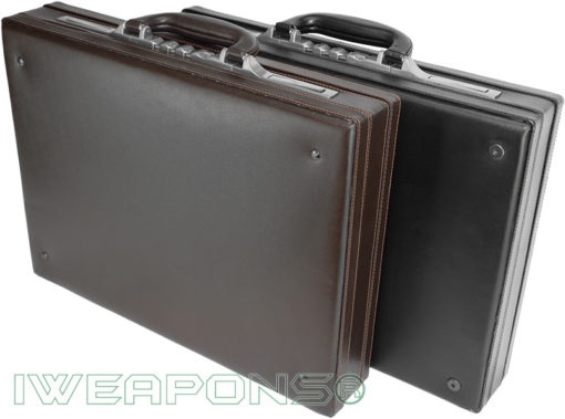 IWEAPONS® Leather Bulletproof Briefcases