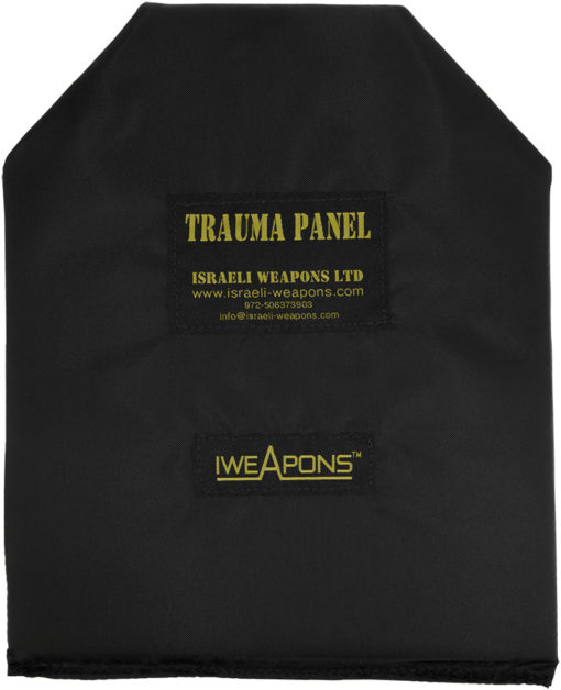 "IWEAPONS® Anti-Trauma 10x12"" Shooters Cut SAPI Shape Panel for Bulletproof Vest"