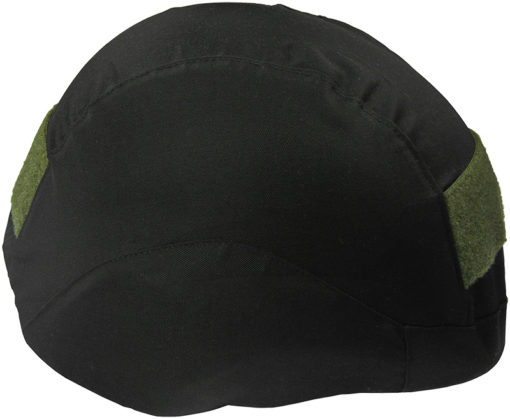 IWEAPONS® Elastic Black Cover with Green Velcro for Helmet