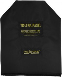 "IWEAPONS® Anti-Trauma 10x12"" Shooters Cut SAPI Shape Panel for Bulletproof Vest"