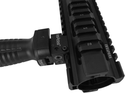 IWEAPONS® AR15 M4 M16 Quad Rail with Laser and Foregrip