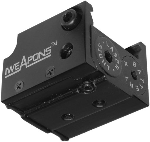 IWEAPONS® Handgun Rail Mounted Red Laser