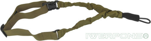 IWEAPONS® IDF 1-Point Bungee Rifle Sling Quick Release Gun Sling - Tan