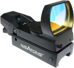 IWEAPONS® Multi-Reticle Red Dot Reflex 23x34 Sight - Auto Brightness Sensitive