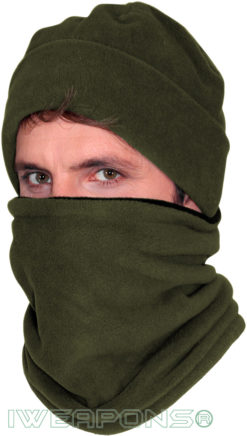 IWEAPONS® Reversible Fleece Neck Warmer - Green/Black