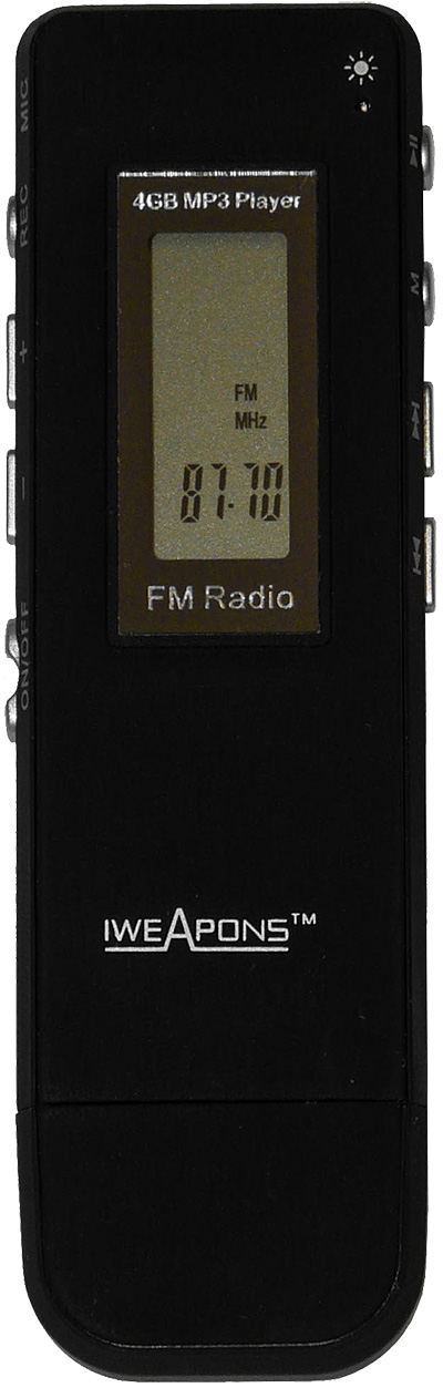 IWEAPONS® Voice Recorder with MP3 Player