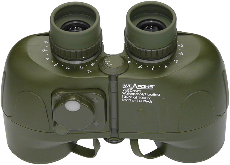 IWEAPONS® Waterproof and Shockproof Floating 7x50 Binoculars with Compass