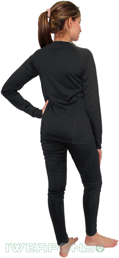 IWEAPONS® Women's Thermal Underwear Top & Bottom Set - Black