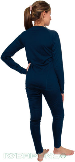 IWEAPONS® Women's Thermal Underwear Top & Bottom Set - Blue