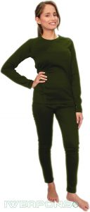 IWEAPONS® Women's Thermal Underwear Top & Bottom Set - Green