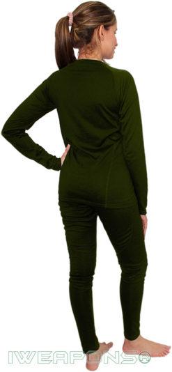 IWEAPONS® Women's Thermal Underwear Top & Bottom Set - Green