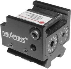 IWEAPONS® Handgun Rail Mounted Red Laser
