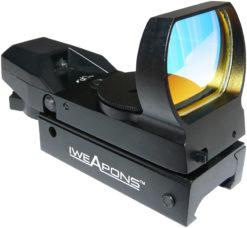 IWEAPONS® Multi-Reticle Red Dot Reflex 23x34 Sight - Auto Brightness Sensitive