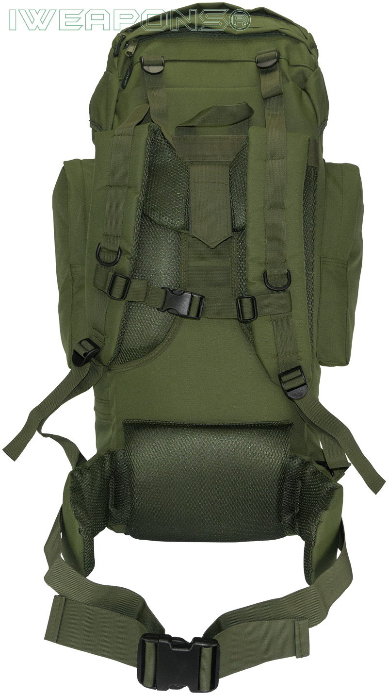 iweapons outdoor military style backpack with metal frame 65l