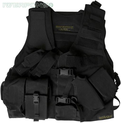 IWEAPONS® Tactical SWAT Assault Vest with Holster and Backpack