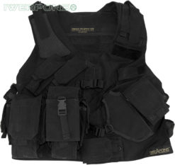 IWEAPONS® Tactical SWAT Vest with Holster and Backpack