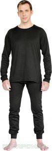IWEAPONS® Men's Thermal Underwear Top & Bottom Set - Black
