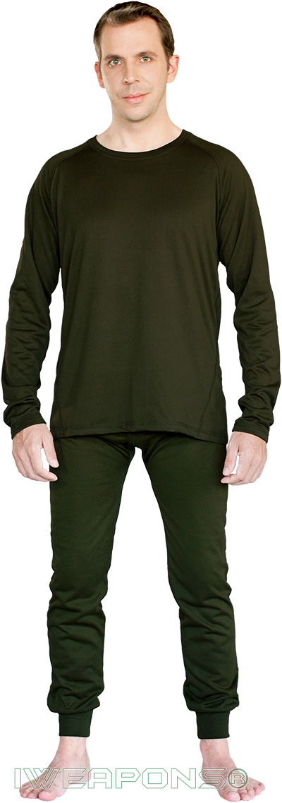 IWEAPONS® Men's Thermal Underwear Top & Bottom Set - Green