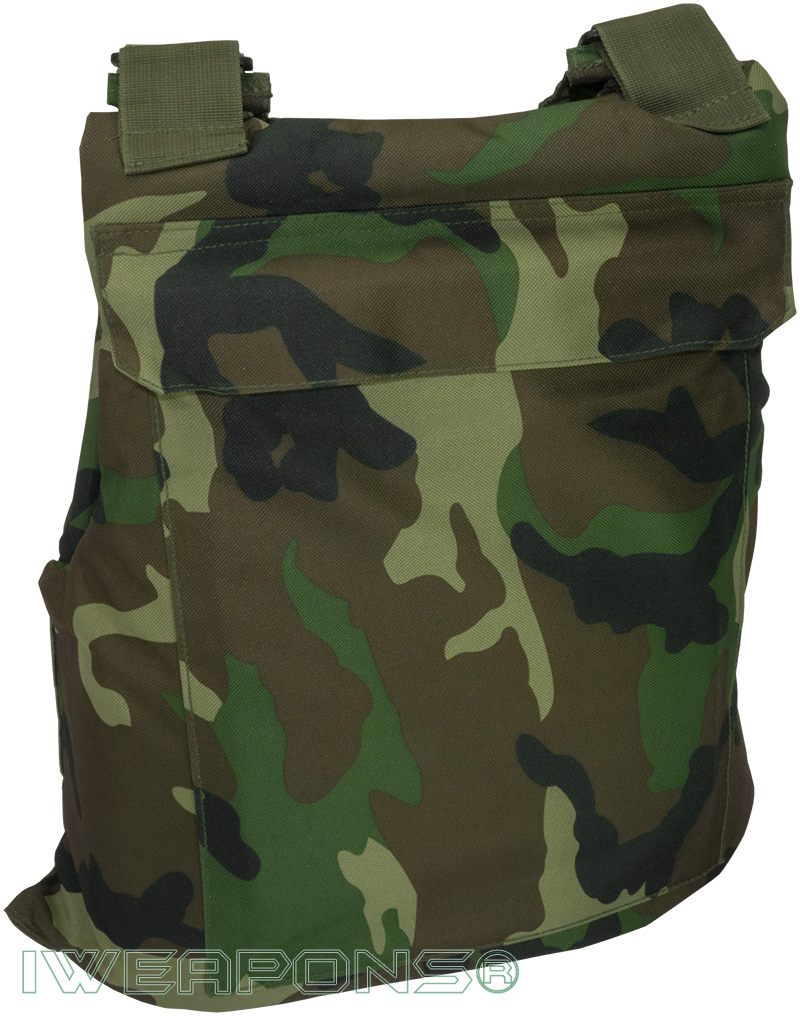 IWEAPONS® Commando Camouflage Bulletproof Vest IIIA / 3A with XL Pockets for Armor Plates