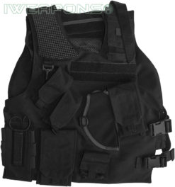 IWEAPONS® Israeli Army Black Military Vest with Holster