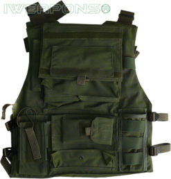 IWEAPONS® Israeli Military Green Vest Back with Backpack
