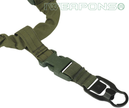 IWEAPONS® Operator Tactical 1-Point MASH (metal all-purpose snap hook) with Clip